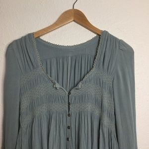 Urban Outfitters Tops - UO Long Sleeve Button Down Blouse Light Blue Sz S